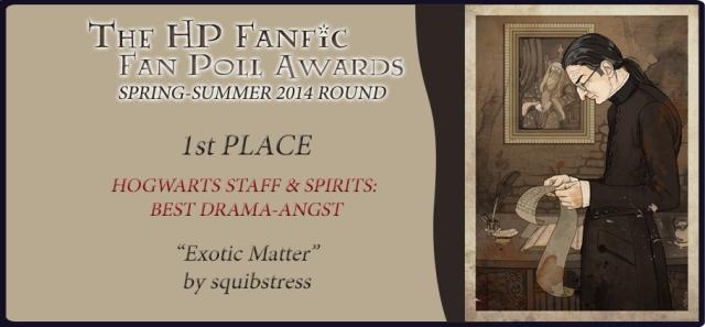HP Fanfic Fanpoll Award Banner 1st Place