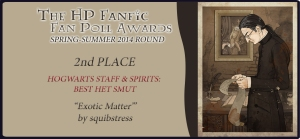 HP Fanfic Fanpoll Award Banner 2nd Place